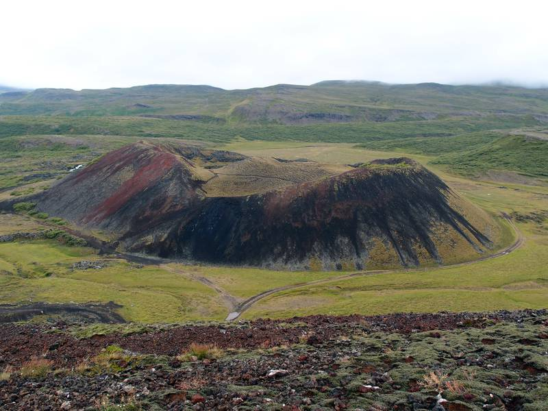 Grábrók crater is the result of a fissure eruption caused by the Ljósufjöll volcanic system less than 3000 years ago, Iceland (Photo: Janka)