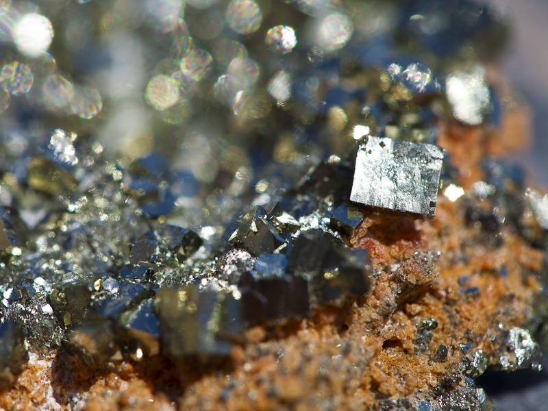 Pyrite crystals from Paliohori beach / Milos island (Photo: Tobias Schorr)