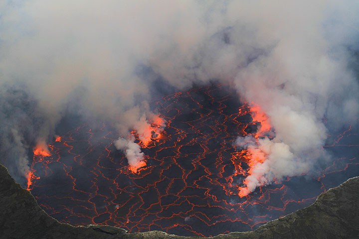 Nyiragongo's lava lake (Photo: Yashmin Chebli)