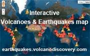 Mapa interactivo de los últimos terremotos y volcanes activos en el mundo